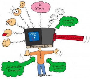 Sinnesorgane mit dem Verstand als Prozessor