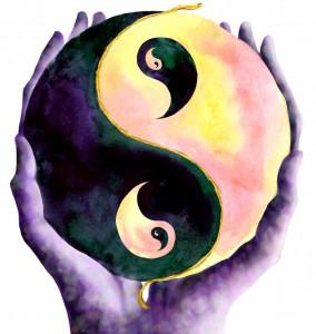 Yin und Yang aus der Quelle