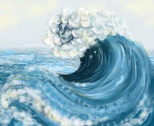 Jeder Mensch ist wie eine Welle im Ozean